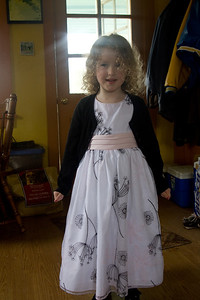 Beverly shows off her beautiful Easter dress - a gift from Lilly.