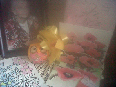 Robynn's Mothers' Day cards and flowers...