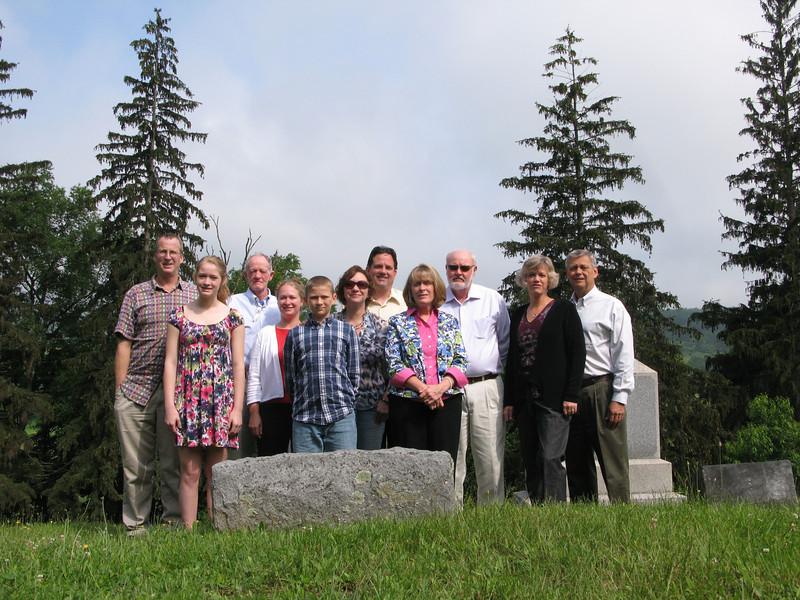 Harriet's Funeral (James, Toni, Robert, Shannon, Wesley, Felicia, Dan, Shirley, Bruce, Lynne and Harry)
