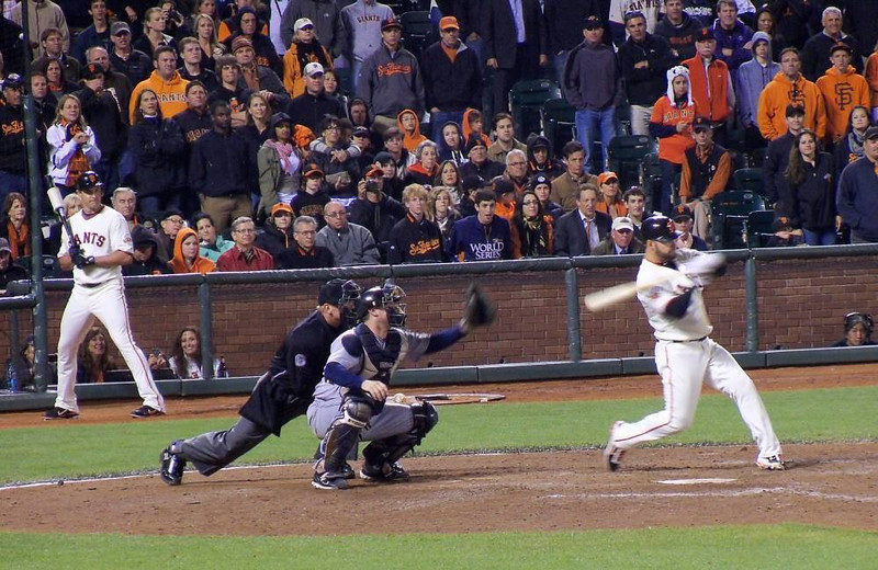 Another hit. The Giants won the game 6-5 after 14 innings.