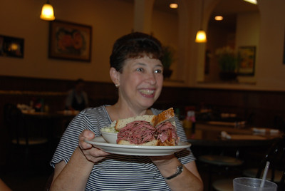 Yanna has enough corned beef and pastrami for several meals.