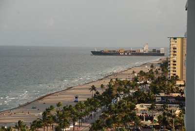 View from our balcony in Ft. Lauderdale.