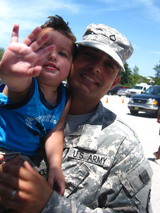 Jaden with his daddy, the soldier....