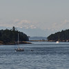 The Olympics, as we leave Friday Harbor