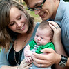 Hayley and Brian Hahn with their 1-month-old son Jude at their apartment in Austin, Texas on October 22, 2011.