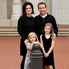 Jocelyn and Sean Smith with their daughters Emmy (black dress) and Ellie at Park Cities Baptist Church on the morning of Saturday, November 19, 2011.