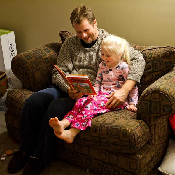 Jenn usually reads to Chloe every night.  November 2011