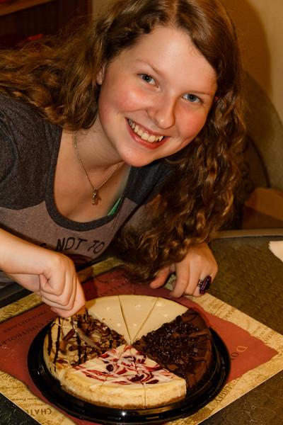 Abigail's Birthday Cheescake - December 2011