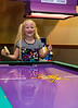 Chloe had so much fun playing air hockey!