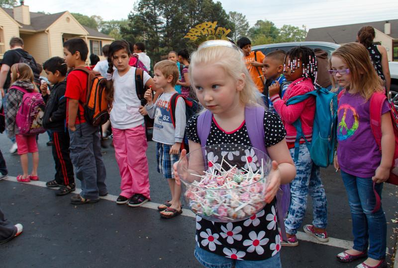 Dum-Dums are little lollipops.  Chloe handed out a lot of lollipops!