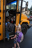 Even the bus driver got a lollipop on Chloe's 6th birthday, March 29th, 2012