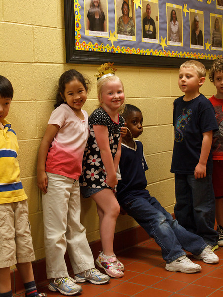 Chloe with her classmates, on her 6th birthday