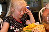 Chloe is used to her grandparents calling from France!  But they now live in Arizona!