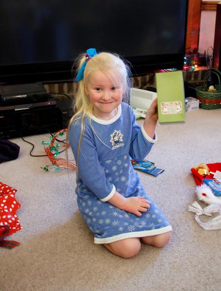 Chloe, 6, Christmas 2012