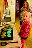 The morning of Joshua's 17th birthday, Chloe and Tim made green pancakes, in honor of Joshua's Irish roots - a heritage he is very proud of.