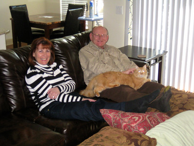 Ann, Russell & Fuzzy Bellmor At Morgan's Houston Apartment December 2011