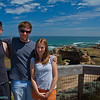 "Joel Justin & Ro at ocean side of Portsea.  ""London Bridge"" in the background."
