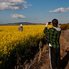 Canola field near the Telescope: John/Dad/Grandad and Joel