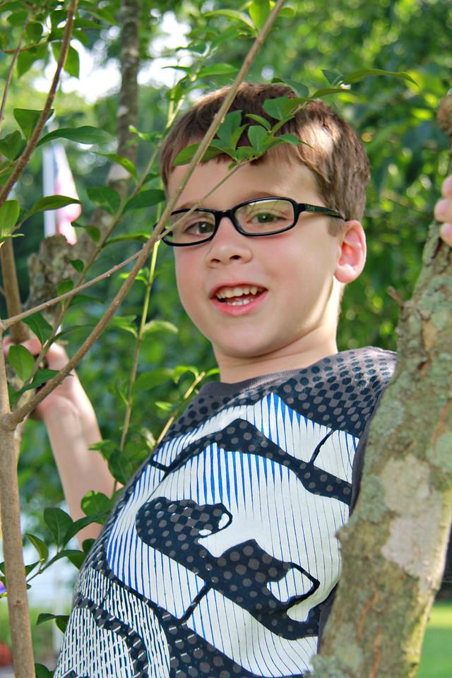 July 2, 2011 at Grandma's house, Ian on an adventure.