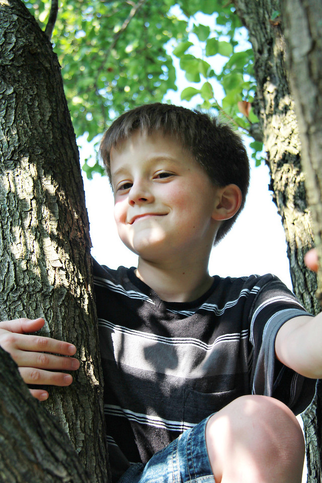 July 2, 2011 at Grandma's house, Elijah on an adventure.