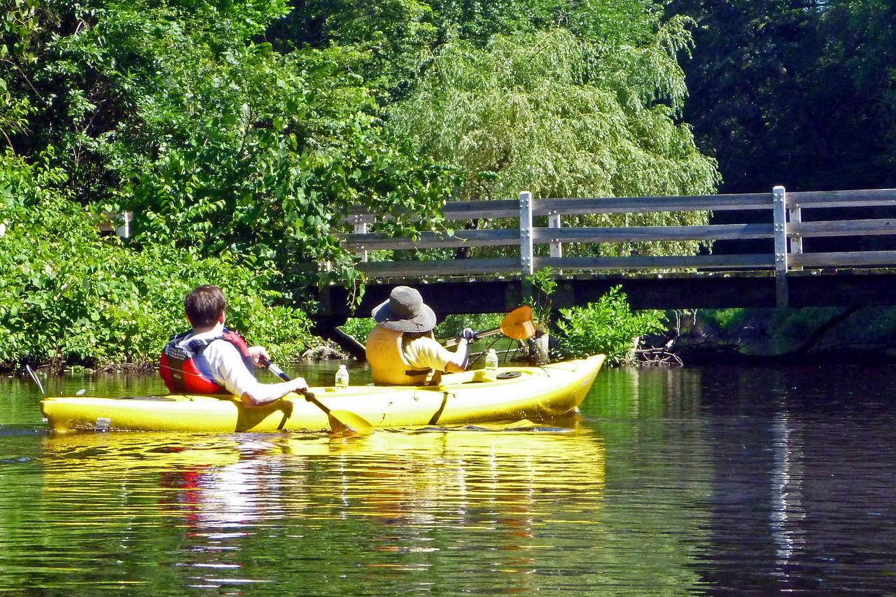 Rob and Maryliz kayaking on the Charles