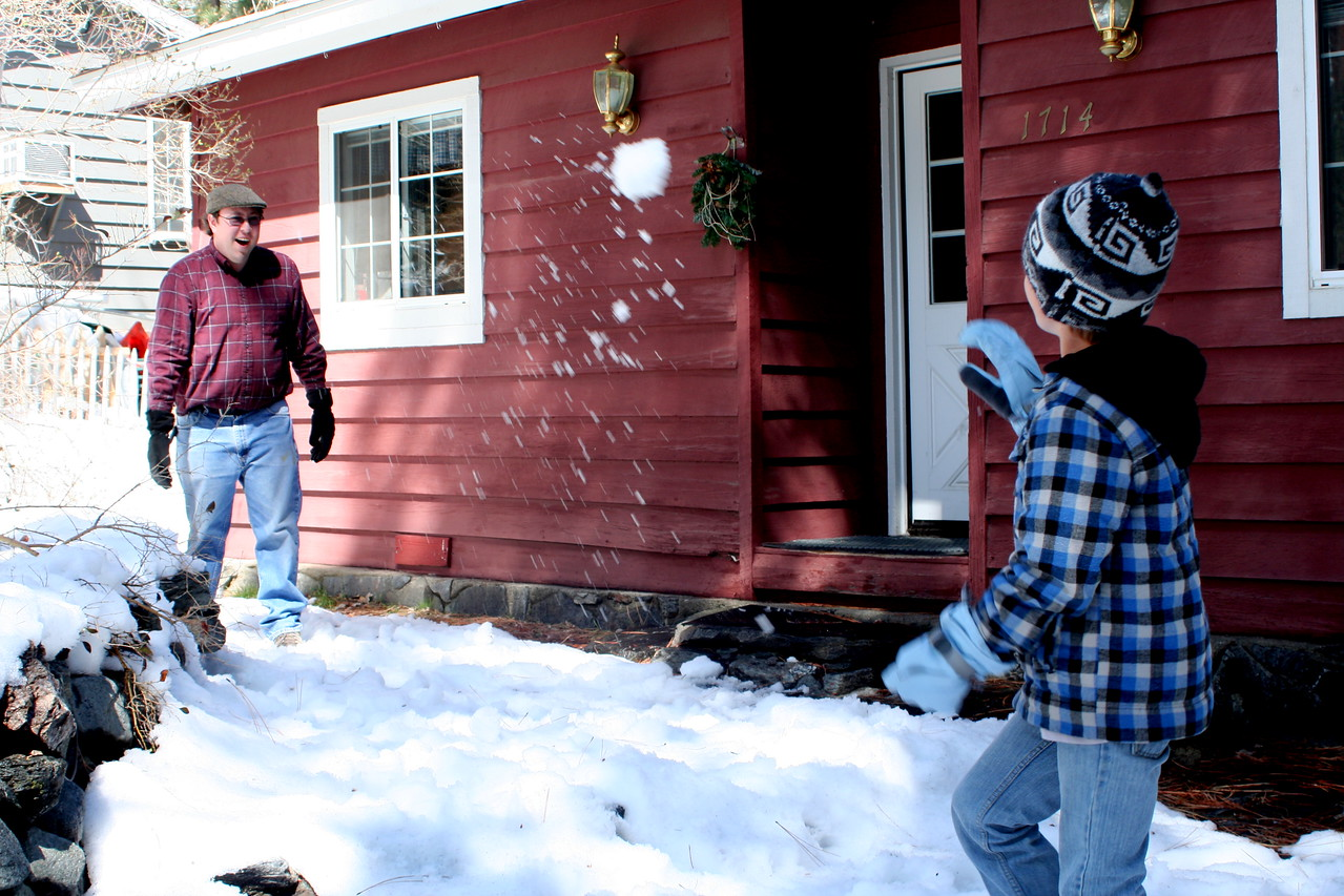 Snowball Fight -  Jr and Brother,