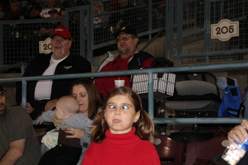 89 1/2 year old Norm and great granddaughter 7 1/2 year old Sydney sang the National Anthem for the Inland Empire 66ers baseball game - 34