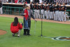 89 1/2 year old Norm and great granddaughter 7 1/2 year old Sydney sang the National Anthem for the Inland Empire 66ers baseball game - 27
