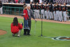 89 1/2 year old Norm and great granddaughter 7 1/2 year old Sydney sang the National Anthem for the Inland Empire 66ers baseball game - 31