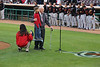 89 1/2 year old Norm and great granddaughter 7 1/2 year old Sydney sang the National Anthem for the Inland Empire 66ers baseball game - 29