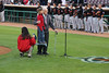 89 1/2 year old Norm and great granddaughter 7 1/2 year old Sydney sang the National Anthem for the Inland Empire 66ers baseball game - 28