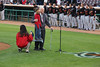 89 1/2 year old Norm and great granddaughter 7 1/2 year old Sydney sang the National Anthem for the Inland Empire 66ers baseball game - 30