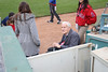 89 1/2 year old Norm and great granddaughter 7 1/2 year old Sydney sang the National Anthem for the Inland Empire 66ers baseball game - 21