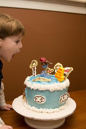 Nuf said!  Elijah was pretty happy about the cake!
