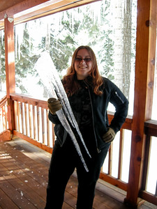 Hillary loved the icicles