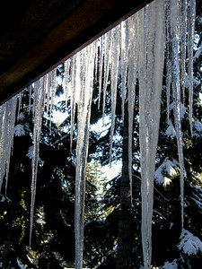 icicles on the porch