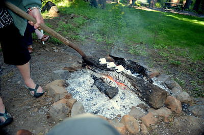 HUGE campfire marshmallows on the tines