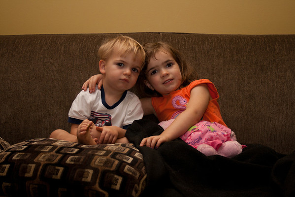 09-13-2011 Kelton and Nanette on Couch.