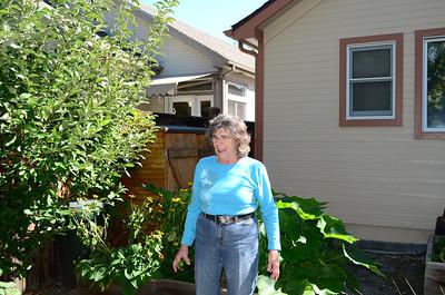 Edna showing off her veggies