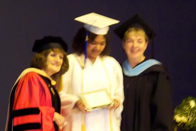 Sam receiving her National Acheivement award!!
