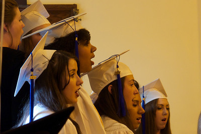 Singing at the graduation (Trinity)