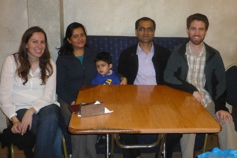 We had dinner in Nairobi with Vijay and Kirti Vora, and their son (whose name I forget)