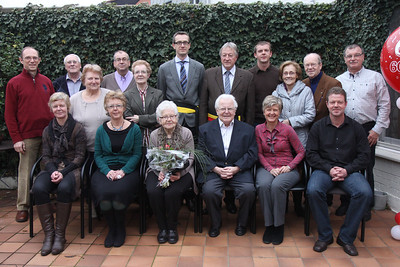 Miet and Marcel Oplinus at their 60th wedding anniversary in Geluwe, Belgium.