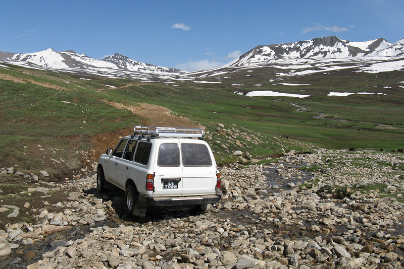 At one point we saw a dirt track heading off into the distant mountains, so we decided to explore it.