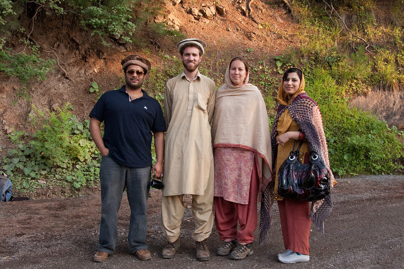 This couple gave Erin and me a ride down the mountain in their jeep, so we didn't have to hike down the precipitous path. The guy was a Pakistani American, and he had come to Pakistan to get married two months earlier. They were on a sort of honeymoon.