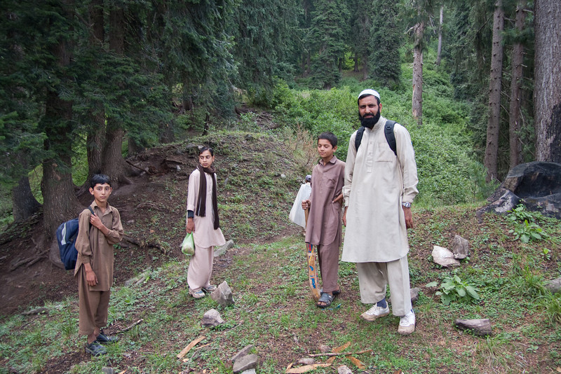 On the right is Javed, our host who runs the school.  A bunch of kids from the school joined us for the hike.