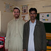 Me with Safdar, the fourth grade teacher. In addition to the three male teachers there were also four female teachers.