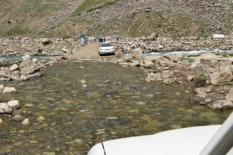 A flooded road on the way to Babusar Pass.