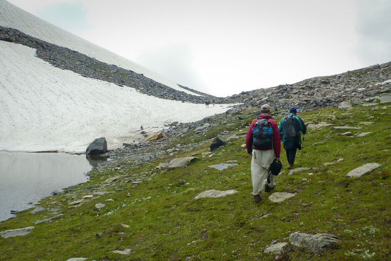 Approaching the top of the pass, at around 13,600 ft. In the distance is Ashraf with the horse.