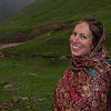 Exhausted and happy to be done: Erin on our arrival at Noori Nar